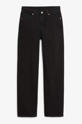 Monki Taiki straight leg black jeans