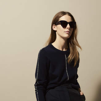 Sandro Wool sweater with braid trims