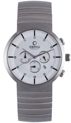 Obaku Men's V131GCISC Dial Steel Chronograph Watch