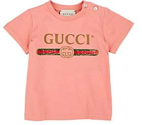 Gucci Infants' Logo-Print Cotton T-Shirt - Pink