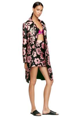Floral Print Trench