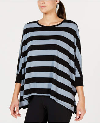 Calvin Klein Rugby-Striped Relaxed Dolman-Sleeve Top