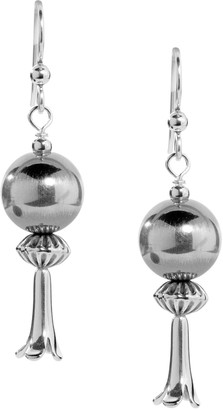 American West Sterling Squash Blossom Earrings