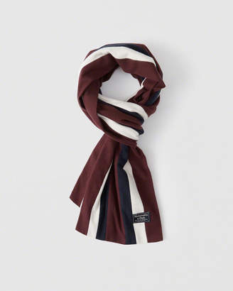Abercrombie & Fitch Woven Rugby Scarf