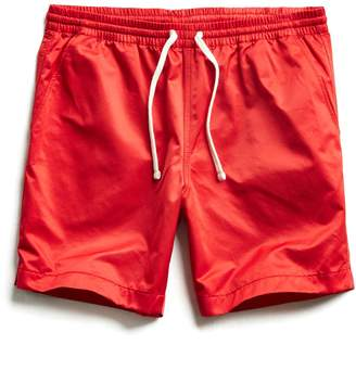 Todd Snyder Satin Weekender Short in Red