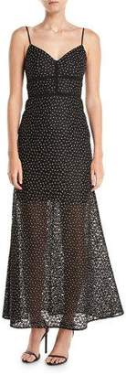 Jill Stuart Floral Lace Slip Evening Gown