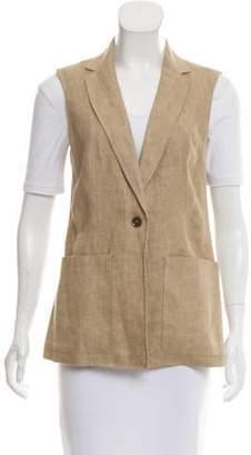 Max Mara Weekend Notch-Lapel Button-Up Vest