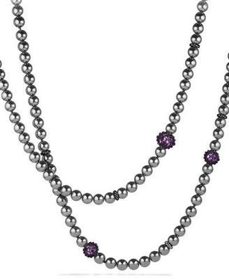 David Yurman Osetra Necklace with Hematite and Amethyst $2,500 thestylecure.com