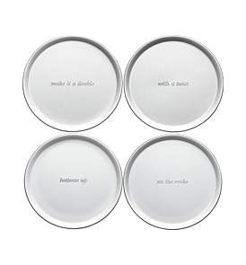 Kate Spade Silver Street Coasters 9Cm (Set Of 4)