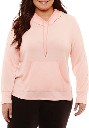 ST. JOHN'S BAY SJB ACTIVE Active Long Sleeve Hoodie with Kangaroo Pocket - Plus