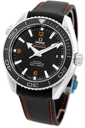"""Omega Seamaster """" Planet Ocean"""" Stainless Steel Black Dial Automatic 45.5mm Mens Watch"""