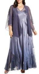 Komarov Embellished Maxi Dress with Jacket