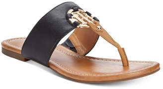 Tommy Hilfiger Sia Slip-On Thong Sandals $59 thestylecure.com
