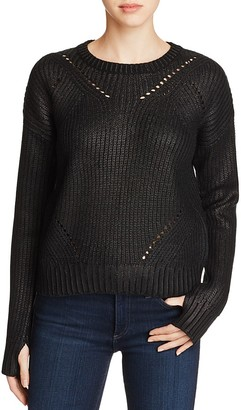 John + Jenn Coated Pointelle Sweater - 100% Exclusive $149 thestylecure.com
