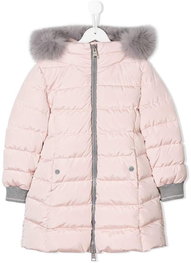Herno Kids fur trim padded coat