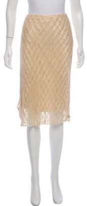 Ralph Lauren Embellished Knee-Length Skirt Tan Embellished Knee-Length Skirt