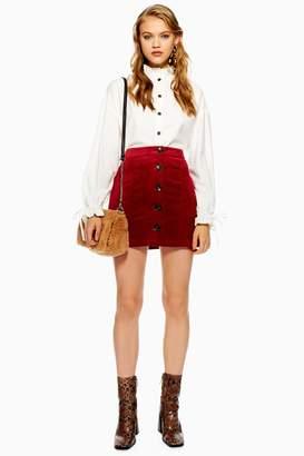 Topshop TALL Corduroy Pocket Mini Skirt