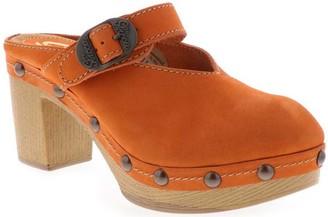 Sbicca Leather Buckle Clogs - Jelina