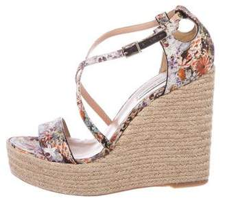 Floral Wedge Shoes Shopstyle
