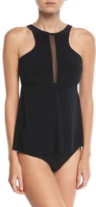 Magicsuit Colleen High-Neck Solid Tankini Swim Top