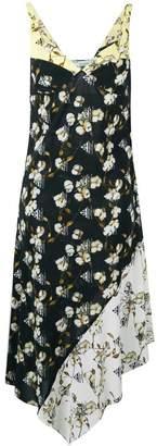 Off-White cotton flower print midi dress