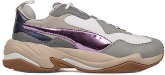 Puma Gray/white/purple Thunder Electric Sneakers