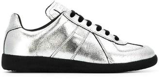 Maison Margiela metallic lace-up sneakers