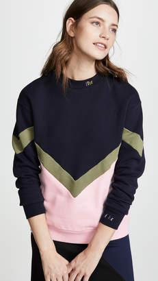Etre Cecile Chevron Boyfriend Sweatshirt