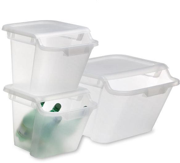 Stacking Recycling & Storage Bins