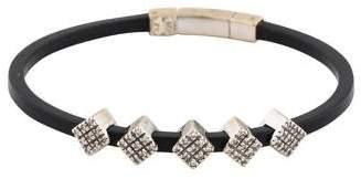 18K Diamond Rubber Bracelet