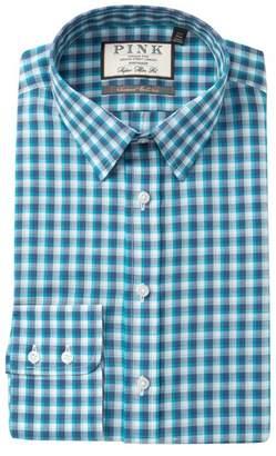 Thomas Pink Gerry Check Super Slim Fit Dress Shirt