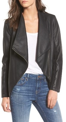 Women's Bb Dakota Gabrielle Faux Leather Asymmetrical Jacket $106 thestylecure.com