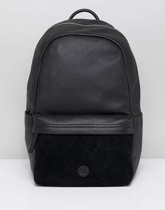 Timberland leather backpack in black