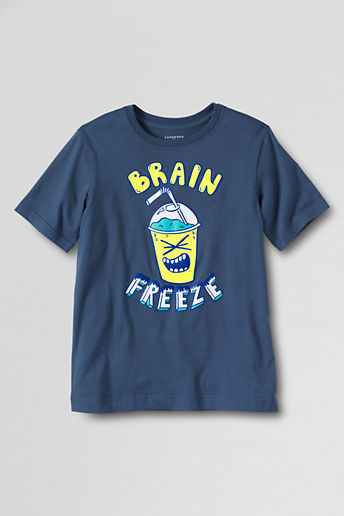 Lands' End Boys' Husky Short Sleeve Brain Freeze Graphic T-shirt