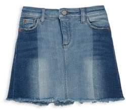 Girl's Frayed-Trimmed Denim Skirt