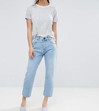 Asos DESIGN Petite Florence authentic straight leg jeans in cambridge light mid wash