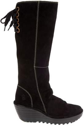 Fly London Suede Tall Wedge Boots - Yust