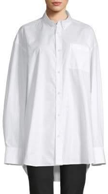 4e0a92960d2b5 ... Helmut Lang Oversized Cotton Button-Down Shirt