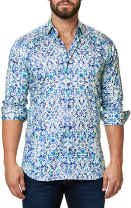 Desigual Maceoo Shaped-Fit Luxor Sport Shirt, Blue-Green