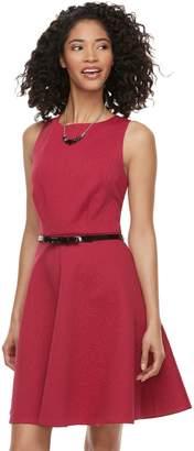 Elle Women's Floral Jacquard Fit & Flare Dress