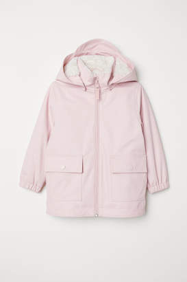 H&M Pile-lined Rain Jacket - Pink