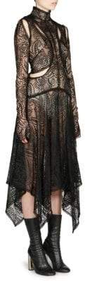 Alexander McQueen Paisley Lace Midi Dress
