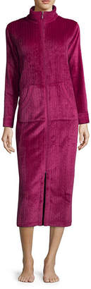 Miss Elaine COLLETTE BY Collette by Cable Fleece Long Zip Robe