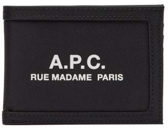 A.P.C. Logo Printed Card Holder - Mens - Black