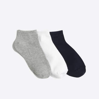 J.Crew Factory Kids' ankle socks three-pack