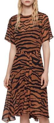 AllSaints Enki Zephyr Midi Dress