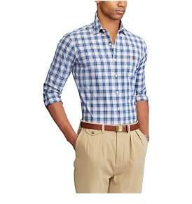 Polo Ralph Lauren Long Sleeve Plaid Cotton Shirt