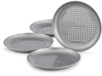 "Calphalon Nonstick Set of 4 Mini 7"" Personal Pizza Pans"