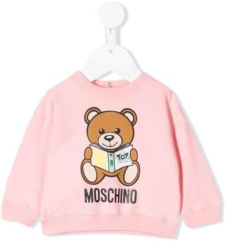 Moschino Kids reading teddy sweater