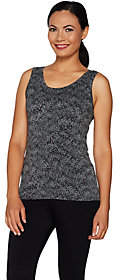 Cuddl Duds Softwear Stretch Reversible ScoopCrew Tank Top